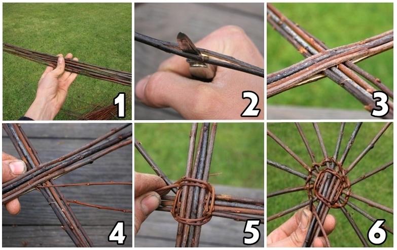 Пошаговая схема плетения корзин с фото