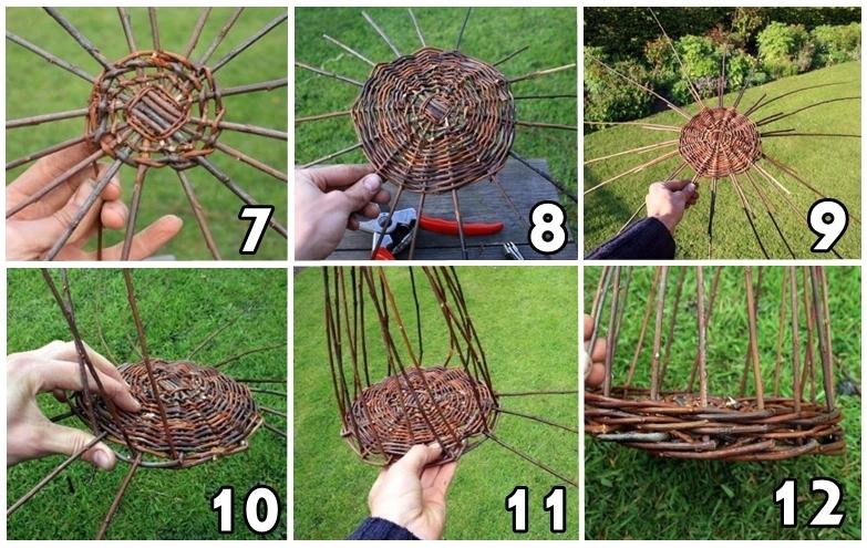 Инструменты и заготовка сырья для плетения корзин