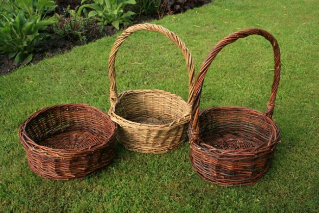 Плетеные корзины из ивы