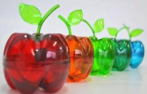 Яблоки из пластиковых бутылок своими руками